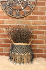 Nádoby - Bohémsky košík z morskej trávy Athéna - 12977602_