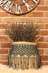 Nádoby - Bohémsky košík z morskej trávy Athéna - 12977605_