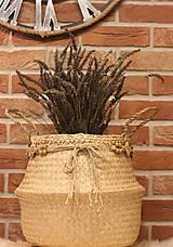 Košíky - Kvetináč z morskej trávy plus macramé opasok - 12977881_