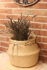 Košíky - Kvetináč z morskej trávy plus macramé opasok - 12977887_