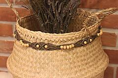 Dekorácie - Makramé opasok na šaty ako dekorácia interiéru. - 12977927_