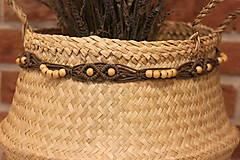 Dekorácie - Makramé opasok na šaty ako dekorácia interiéru. - 12977928_