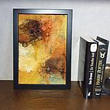 """Obrázky - Plstený obraz """"bush v plameňoch"""" - 12976122_"""