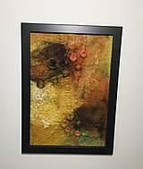 """Obrázky - Plstený obraz """"bush v plameňoch"""" - 12976726_"""