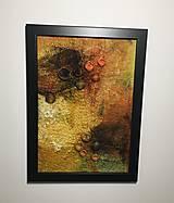 """Obrázky - Plstený obraz """"bush v plameňoch"""" - 12976727_"""