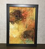 """Obrázky - Plstený obraz """"bush v plameňoch"""" - 12976729_"""