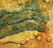 """Obrázky - Plstený obraz """"búrka nad Jupiterom"""" - 12976826_"""