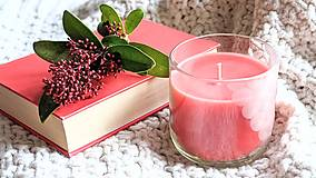 Dobrý obchod - Sviečka z včelieho vosku v brúsenom skle - Valentín - 12978073_