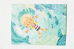 """Papiernictvo - Pohľadnica """"v mori"""" - 12976502_"""