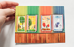 """Papiernictvo - Pohľadnica """"štyri ročné obdobia"""" - 12976644_"""