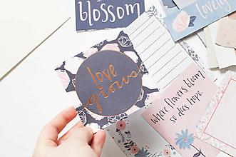 """Papier - Journal tvorenie """"bloom"""" - 12978290_"""