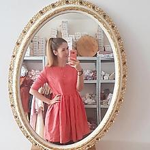 Šaty - Ľanové šaty riasené s gombičkami - Čajka - 12976141_
