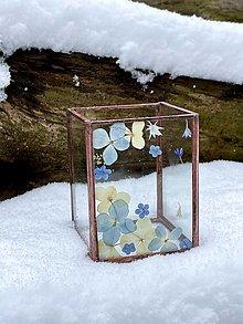 Svietidlá a sviečky - Svietnik so sušenými hortenziami - 12979707_