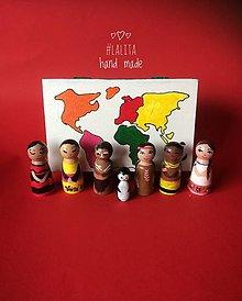 Hračky - Kontinenty a ich obyvatelia ~ montessori pomôcka - 12982261_