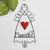 Dekorácie - srdiečko maminke, mamičke - anjelik - 12982017_