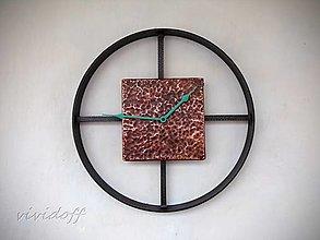 Hodiny - hodiny kovovo-medené 8 - 12980248_