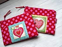 """Taštičky - Taštička """" Heart """" No.1 - 12982549_"""