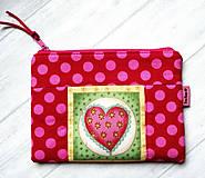 """Taštičky - Taštička """" Heart """" No.2 - 12982689_"""