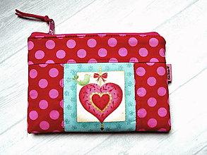 """Taštičky - Taštička """" Heart """" No.1 - 12982693_"""