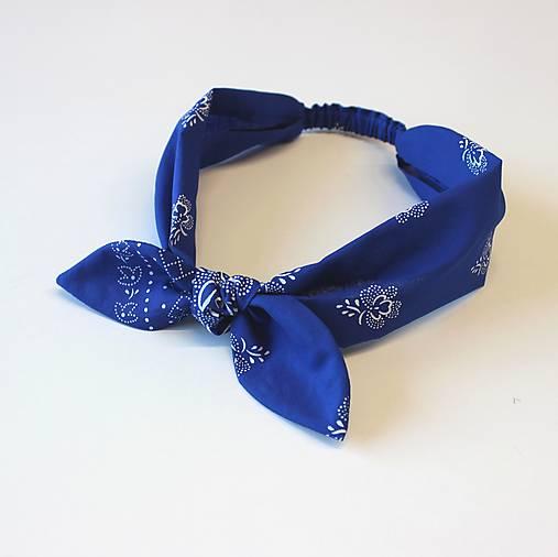 čelenka Folk modrá
