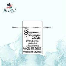 Drobnosti - Textilná etiketa 5x3 cm sada 100 ks - 12982347_