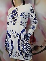 Šaty - FLORAL FOLK -  šaty v dĺžke midi s vačkami (mandarínka s bielou) - 12979946_