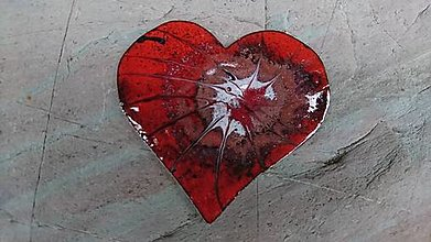 Odznaky/Brošne - Srdiečko z lásky - 12981590_