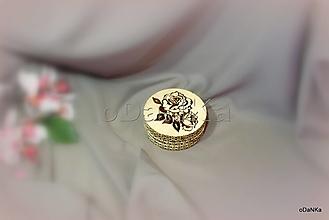 Pomôcky - sada podložiek pod pohár Ruža - 12980535_