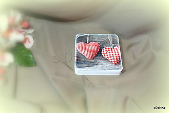 Pomôcky - sada podložiek pod pohár Valentínka - 12980570_