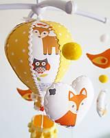Detské doplnky - Kolotoč nad postieľku lesné zvieratká - 12981521_