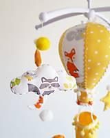 Detské doplnky - Kolotoč nad postieľku lesné zvieratká - 12981525_