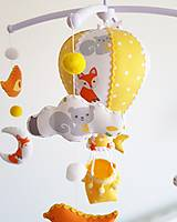Detské doplnky - Kolotoč nad postieľku lesné zvieratká - 12981527_