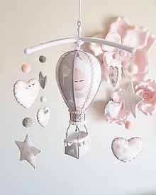 Detské doplnky - Kolotoč sivo ružový - 12979863_