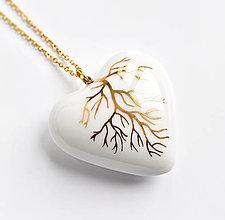 Náhrdelníky - Esence porcelánový náhrdelník - 12981838_