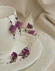 Náušnice - Tanečnice mini. Violet - 12982543_