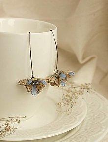 Náušnice - Kvetinové tanečnice. Modranka (chirurgická oceľ) - 12982848_