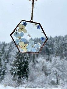 Dekorácie - Závesná dekorácia s hortenziami - 12981343_