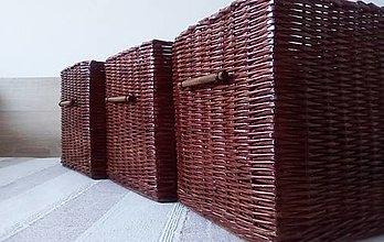 Košíky - Koše čokoládové ĽUDKA / ks - 12981063_