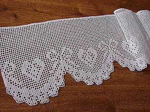 Úžitkový textil - háčkovaná vitrážková záclonka - 12988416_