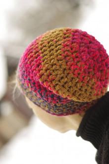 Čiapky - farebnica ružovo-hnedá:) čiapka - 12985151_