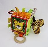 Hračky - Úchopová kocka - tigrík - 12988878_