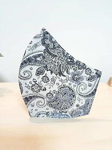 Rúška - Anatomický tvarované dámske rúško šedá elegance - 12989665_
