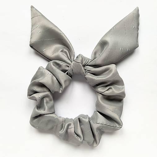 Recy-scrunchie sivá