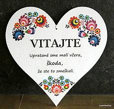 Tabuľky - Srdce tabuľka 25x25 cm - 12988850_