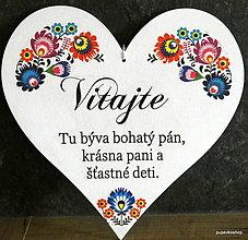 Tabuľky - Srdce tabuľka 25x25 cm - 12988870_