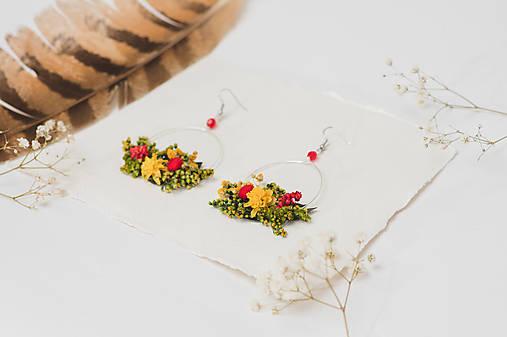 """Kvetinové kruhové náušnice """"zostali už len spomienky"""""""