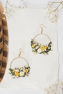 """Náušnice - Kvetinové kruhové náušnice """"dotyk slnka 2"""" - 12985679_"""