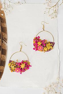 """Náušnice - Kvetinové kruhové náušnice """"tvoje úsmevy"""" - 12985785_"""