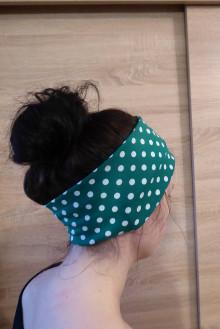 Ozdoby do vlasov - retro bodka zelená - 12985247_