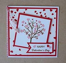 Papiernictvo - Valentínka s ruženínom - 12989713_